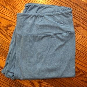 lularoe heathered light blue leggings - size TC